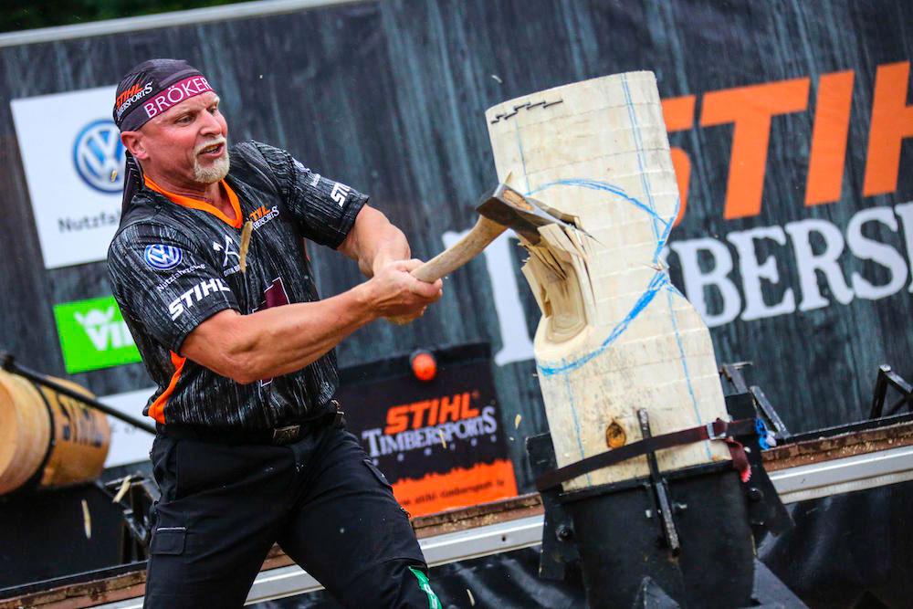 STIHL TIMBERSPORTS Series - Dirk Braun, Standing Block Chop